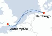 Southampton, Navegación, Hamburgo, Navegación, Southampton