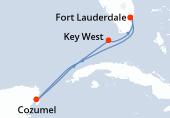 Fort Lauderdale, Navegación, Cozumel, Navegación, Key West, Fort Lauderdale