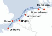 Bremerhaven, Amsterdam, Dover, Le Havre, Brujas, Navegación, Hamburgo, Bremerhaven