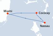 Miami, Nassau, Cococay, Navegación, Miami