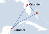 Orlando, Navegación, Cozumel, Navegación, Great Stirrup Cay, Orlando
