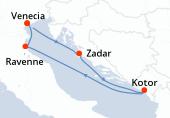 Venecia, Zadar, Kotor, Ravenne, Venecia