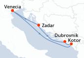 Venecia, Kotor, Dubrovnik, Zadar, Venecia