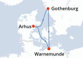 Warnemunde, Navegación, Gothenburg, Arhus, Warnemunde