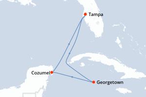 Tampa, Navegación, Georgetown, Cozumel, Navegación, Tampa
