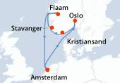 Amsterdam, Navegación, Navegación, Oslo, Kristiansand, Stavanger, Navegación, Flaam, Navegación, Amsterdam