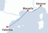 Valencia, Marsella, Genova, Barcelona