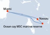 Miami, Ocean cay MSC marine reserve, Nassau, Miami