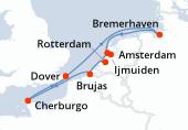 Ijmuiden, Rotterdam, Brujas, Cherburgo, Dover, Navegación, Bremerhaven, Amsterdam