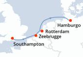 Southampton, Zeebrugge, Rotterdam, Rotterdam, Hamburgo