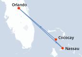 Orlando, Navigation, Nassau, Cococay, Orlando