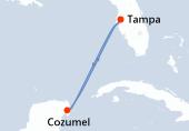 Tampa, Navigation, Cozumel, Navigation, Tampa