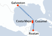 Galveston, Navigation, Navigation, Roatan, Costa Maya, Cozumel, Navigation, Galveston
