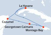 La Havane, La Havane, La Havane, Navigation, Montego Bay, Georgetown Caimans, Cozumel, La Havane
