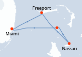 Miami, Freeport, Nassau, Great Stirrup Cay, Miami