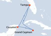 Tampa, Navigation, Grand Cayman, Cozumel, Navigation, Tampa
