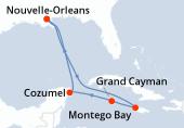 Nouvelle-Orleans, Navigation, Navigation, Montego Bay, Grand Cayman, Cozumel, Navigation, Nouvelle-Orleans