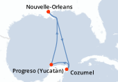 Nouvelle-Orleans, Navigation, Cozumel, Progreso (Yucatan), Navigation, Nouvelle-Orleans
