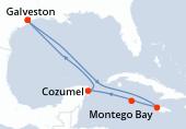 Galveston, Navigation, Navigation, Montego Bay, Grand Cayman, Cozumel, Navigation, Galveston
