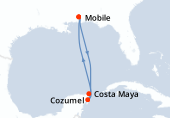 Mobile, Navigation, Costa Maya, Cozumel, Navigation, Mobile