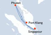 Singapour, Port Klang, Phuket, Navigation, Singapour
