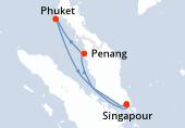 Singapour, Penang, Phuket, Navigation, Singapour