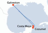 Galveston, Navigation, Costa Maya, Cozumel, Navigation, Galveston