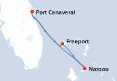 Port Canaveral, Navigation, Nassau, Freeport, Port Canaveral