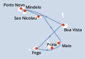 Praia, Praia, Maio, Sao Nicolau, Mindelo, Porto Novo, Boa Vista, Fogo, Praia