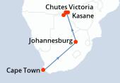 Cape Town, Cape Town, Cape Town, Cape Town, Cape Town, Johannesburg, Johannesburg, Kasane, Kasane, Kasane, Kasane, Parc National Chobe, Parc National Chobe, Parc National Chobe, Parc National Chobe, Chutes Victoria, Chutes Victoria
