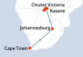Cape Town, Cape Town, Cape Town, Cape Town, Cape Town, Johannesburg, Johannesburg, Kasane, Parc National Chobe, Parc National Chobe, Parc National Chobe, Parc National Chobe, Kasane, Kasane, Kasane, Kasane, Chutes Victoria, Chutes Victoria