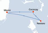 Miami, Cococay, Nassau, Navigation, Miami