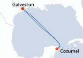 Galveston, Navigation, Cozumel, Navigation, Galveston