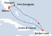 Port Everglade, Freeport, Navigation, Turks & Caicos, Amber cove, Navigation, Miami, Port Everglade