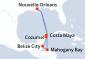 Nouvelle-Orleans, Navigation, Costa Maya, Mahogany Bay, Belize City, Cozumel, Navigation, Nouvelle-Orleans