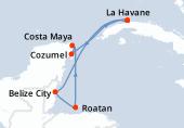 La Havane, La Havane, Navigation, Belize City, Roatan, Costa Maya, Cozumel, La Havane
