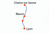 Lyon, Chalon sur Saone, Macon, Belleville-sur-Saone, Lyon