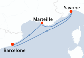 Barcelone, Marseille, Savone, Navigation, Barcelone