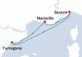 Marseille, Savone, Navigation, Tarragona, Marseille