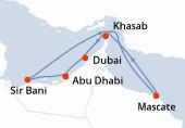 Abu Dhabi, Sir Bani, Navigation, Mascate, Khasab, Dubai, Dubai, Abu Dhabi