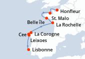 Honfleur, St. Malo, Belle île, La Rochelle, Navigation, La Corogne, Cee, Leixoes, Lisbonne