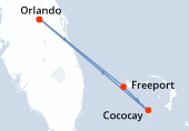 Orlando, Freeport, Cococay, Orlando