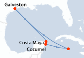 Galveston, Navigation, Costa Maya, Cozumel, Iles Cayman, Navigation, Navigation, Galveston