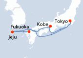 Tokyo, Kobe, Navigation, Jeju, Fukuoka, Navigation, Tokyo