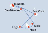 Praia, Praia, Maio, Sao Nicolau, Mindelo, Mindelo, Porto Novo, Boa Vista, Fogo, Praia