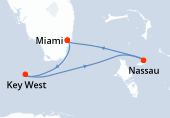 Miami, Key West, Navigation, Nassau, Miami