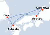Fukuoka, Maizuru, Kanazawa, Pusan, Fukuoka