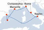 Civitavecchia - Rome, Naples, Navigation, Barcelone, Palma de Majorque, Marseille, La Spezia, Civitavecchia - Rome