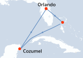 Orlando, Great Stirrup Cay, Navigation, Cozumel, Navigation, Orlando