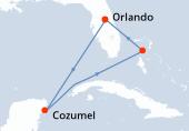 Orlando, Navigation, Cozumel, Navigation, Great Stirrup Cay, Orlando